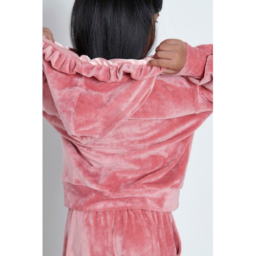 Melin rose σετ βελουτέ ροζ MRW22-674