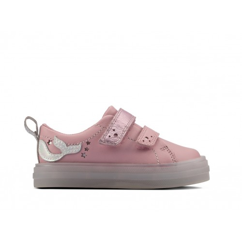 Clarks sneaker 26158070 pink leather