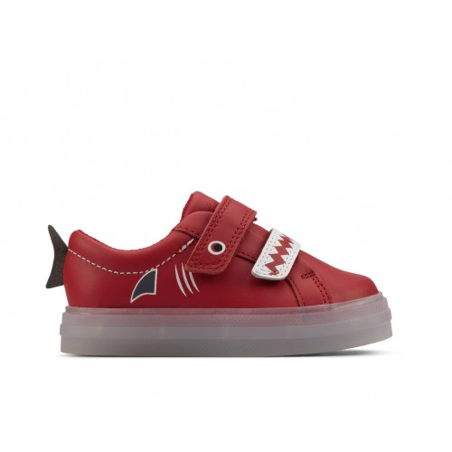 Clarks sneaker 26158072 red leather