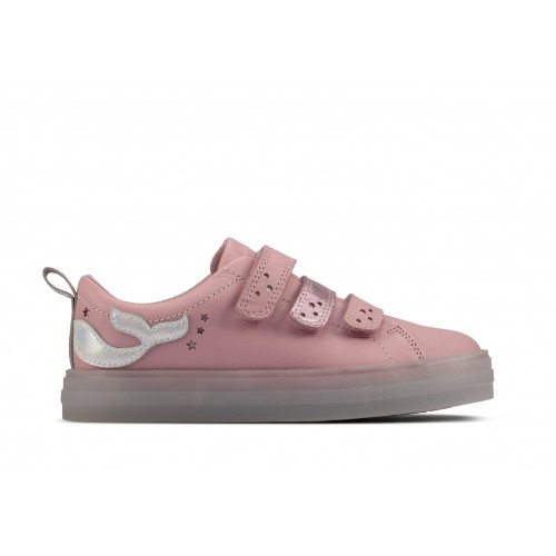 Clarks sneaker 26158074 pink leather