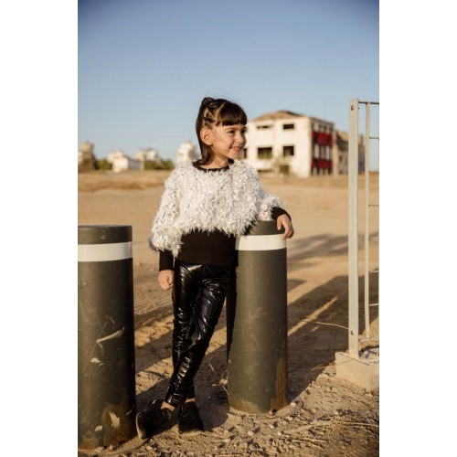 Melin Rose μπλούζα γουνάκι MRW21-142