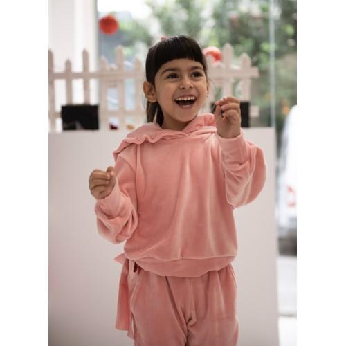 Melin rose σετ φόρμα βελούδινη MRW21-618 ροζ