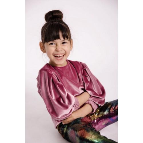 Melin rose μπλούζα βελούδινη MRW21-0143 ροζ