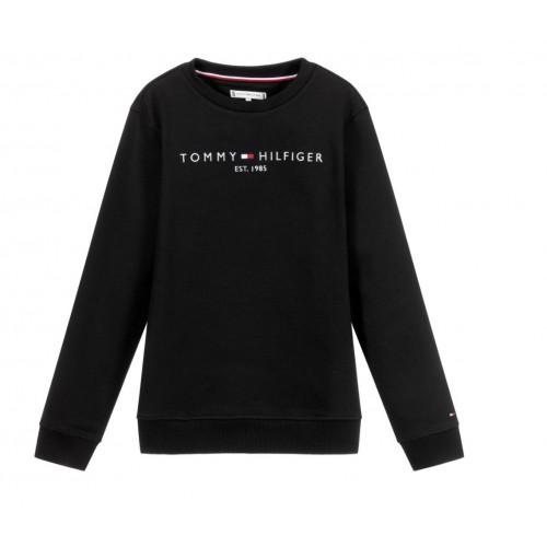 Tommy Hilfiger φούτερ μαύρο KS0KS00212-BDS