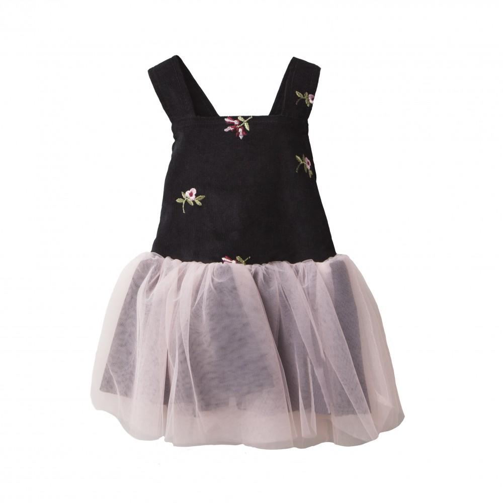 Two in a castle φόρεμα σαλοπέτα μαύρη T262831